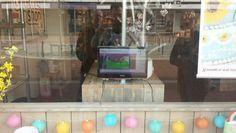 Promotiebeeldscherm etalage De Leukste Taartenshop winkel
