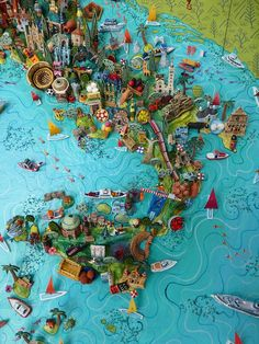 cool 3-D map of Italy & Sicily