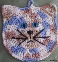Afbeeldingsresultaat voor www. Crochet Applique Patterns Free, Crochet Cat Pattern, Crochet Bunny, Crochet Motif, Crochet Yarn, Easy Crochet, Crochet Geek, Crochet Kitchen, Crochet Home