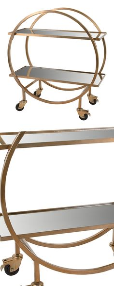 Stunningly crafted, this stainless steel bar cart will prove a perfect display…