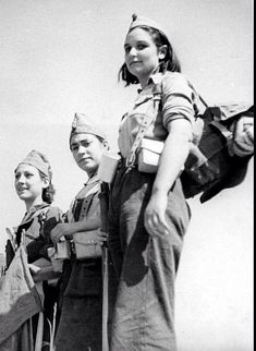 Spanish Civil War, 1936-1939. Milicianas (women of the Republican militias)