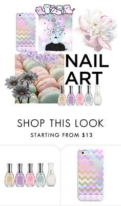 """""""pastel"""" by anarrayofworlds ❤ liked on Polyvore featuring beauty, Sally Hansen, Casetify and pastelnails"""