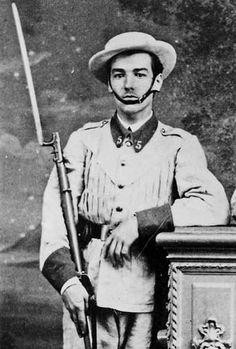 soldado español en Cuba (época colonial).  (1895)
