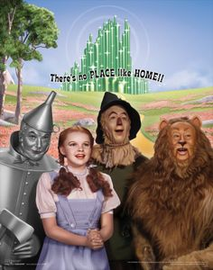 *THE TIN MAN, DOROTHY GALE, SCARE CROW & THE COWARDLY LION ~ The Wizard of Oz,1939