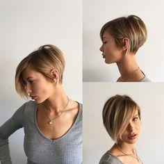 "5,243 Me gusta, 123 comentarios - Dominick Serna (@domdomhair) en Instagram: ""Short hair w/ @adrianna.christina || texture|| chic|| modern|| hair by @domdomhair||…"""
