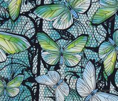 Finnish design jersey fabric by Erja Tapani. Produced by Kangaskapina. Koi, Fabric Design, Plant Leaves, Artist, Artists