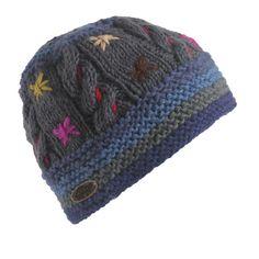 Tara Hand Knit Beanie / Color-Blue