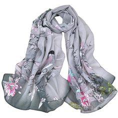 foulards Tefamore Écharpes de châle de foulard de cou mou de mousseline  volé Wraps (150cmX50cm 0afcdda3310