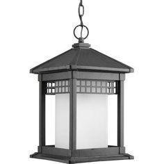 Progress Lighting Merit Collection Black 1-light Hanging Lantern-P6500-31 - The Home Depot