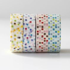 MT Colorful Dots + Grid V2 Japanese Washi Tape $4.00