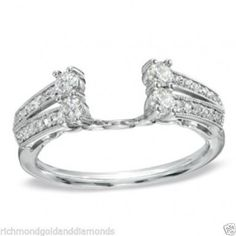 14k White Gold Diamond Solitaire Insert Wrap Ring Guard Solitaire Enhancer (0.50ct. tw)...(RG321660526707).! Price: $512.99 #gold #diamonds #ringguard #wrap #enhancer #fashion #jewelry #love #gift