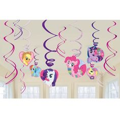 12 x My Little Pony Birthday Party Swirl Decorations in Home, Furniture & DIY, Celebrations & Occasions, Party Supplies | eBay