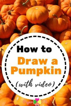 Watch this video to learn how to draw a pumpkin. Get the free printable step by step instructions to draw an easy pumpkin Easy Pumpkin Carving, Pumpkin Carving Patterns, Cute Pumpkin, Pumpkin Drawing, Pumpkin Template, Coloring Sheets For Kids, Step By Step Instructions, Halloween Pumpkins, Free Printable