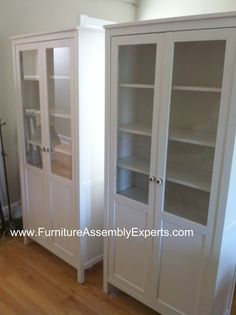 Ikea Hemnes Cabinet With Glass Doors Assembled In Baltimore MD By Furniture  Assembly Experts LLC