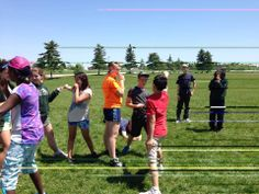Outdoor fun with the Low Ropes! #TeamGames #Cooperation #FunInFrench #Outdoors #Fun #LowRopes