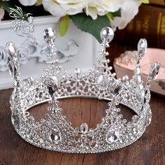 Elegance bride crystal hair accessories wedding Tiaras and crowns bridal crown tiara Suite for sale rhinestone pageant crowns