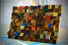 Arte de pared de madera reciclado arte rústico de la por GBandWood