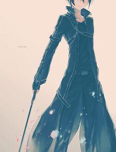 Sword Art Online - Kirito >>> very much a younger Maldor, though not as modern style outfit. Arte Online, Kunst Online, Online Art, Sao Online, Full Metal Alchemist, Manga Anime, Manga Art, Anime Boys, I Love Anime