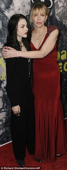 Frances Bean Cobain & Courtney Love. This makes me uncomfortable. I still imagine 20 year old Courtney love