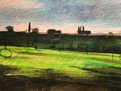 "Mac Ball; Volubilis, watercolor and pencil, 8x10"", 3/13/17"