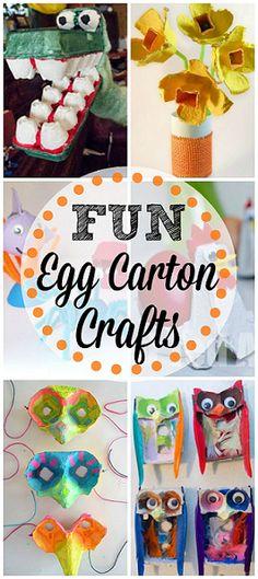 Egg Carton Crafts for Kids #DIY #Recycle | http://www.sassydealz.com/2014/04/egg-carton-crafts-kids.html