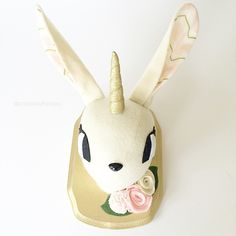 Bunny Unicorn Faux Taxidermy from Pockets with Posies on Etsy - such adorable nursery wall decor!
