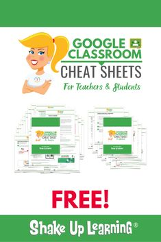 The Google Classroom Cheat Sheets for Teachers and Students! Learning Resources, Classroom Resources, Resources For Teachers, Learning Spanish, Classroom Tools, Teaching Ideas, Classroom Ideas, Online Classroom, Google Classroom
