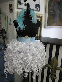 """Paper dress  """"Vignettes"""" San Diego"""