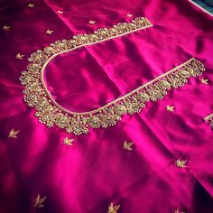17 awesome maggam work blouse designs maggam work designs for pattu blouses 250 latest maggam work designs 2020 17 awesome maggam work blouse Maggam Work Blouses Design Ue In … Cutwork Blouse Designs, Kids Blouse Designs, Pattu Saree Blouse Designs, Hand Work Blouse Design, Simple Blouse Designs, Stylish Blouse Design, Blouse Neck Designs, Cut Work Blouse, Simple Designs