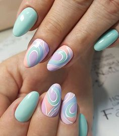 nails Source by lawyerjreagan Nails Only, Get Nails, Fancy Nails, Pretty Nails, Spring Nails, Summer Nails, Nail Atelier, Manicure, Funky Nail Art