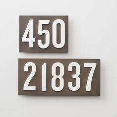 Schoolhouse Steel Address Plate | Schoolhouse Electric