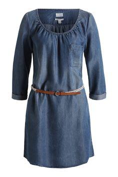 Esprit / Soepele jurk met een denim look