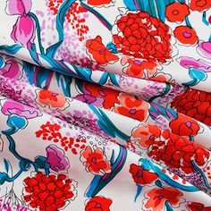 Polyester Satin. Gorgeous medium weight drapey fabric with amazing colour saturation, 140cm wide.Sold per half metre. To purchase 1 metre, enter 2 in the quant