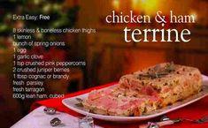 Slimming World Syn Free chicken and ham terrine recipe video Chicken Ham, Boneless Chicken Thighs, Roasting Tins, Free Chickens, Syn Free, Slimming World Recipes, Diet Recipes, Diet Meals, Food Videos