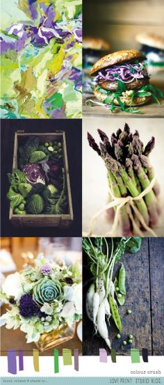 Lovely green and ochre tones mixed with moody purples