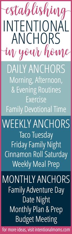 I love the idea of creating anchor routines to make life easier.