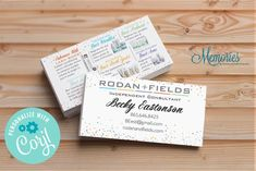 Rodan  Fields Business Card With Skin Care Products image 0 Consultant Business, Independent Consultant, Rodan And Fields Business, I Sent You, Chalkboard Signs, Marketing Materials, Teacher Appreciation, Business Cards, Photo Gifts