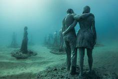 Breathtaking Underwater Museum Turns Ocean Floor Into Art Gallery And Doubles As Artificial Reef   Bored Panda