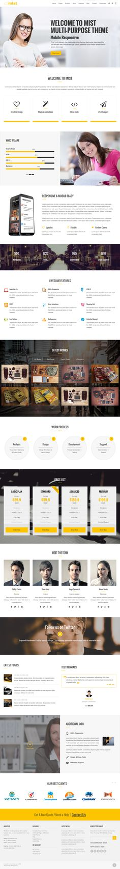 Parallax Website Template Kero Is Premium Full Responsive Html5 Template For Personal And