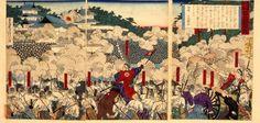鹿児島新聞 熊本城戦争図