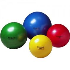 These small exercise balls in four sizes are great for isometric exercise as well as balance/core training. One of the hardest exercises I've ever done is sitting on chair with one foot on the largest ball (which is about the size of a volleyball) and then lifting up the other foot. Owwww...