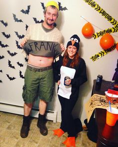 Billy Madison and the Penguin Pumpkin Halloween Costume, Couple Halloween Costumes, Group Halloween, Halloween Diy, Easy Diy Couples Costumes, Diy Costumes, Olive Oyl Costume, Energizer Bunny Costumes, Fairly Odd Parents Costume