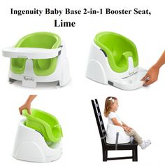 "Check my review on Ingenuity Baby Base 2 in 1 Booster Seat Lime from top rated booster seats on floor and on table for toddlers, a ""grow with me"" baby booster seat."