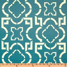 Duralee Lattice Slub Aegean from @fabricdotcom  Screen printed on cotton slub duck (slub cloth has a linen appearance), this versatile medium weight fabric is perfect for window accents (draperies, valances, curtains and swags), toss pillows, bed skirts, duvet covers, slipcovers , upholstery and other home decor accents. Create handbags, tote bags, aprons and more. Colors include ivory on a teal background.
