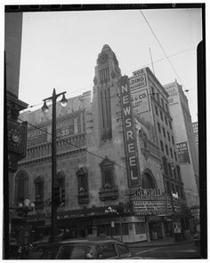 The Newsreel Theater, 8th and Broadway in Downtown Los Angeles, 1951 Imagine a movie theater if you can that only showed news films of the day.