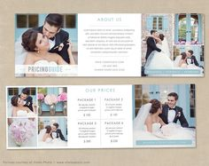 Trifold Pricing Guide template  photoshop by MarketingMall on Etsy,