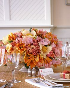 tangerine and pink