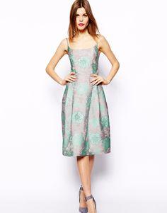 ASOS Premium Prom Dress In Embellished Jacquard