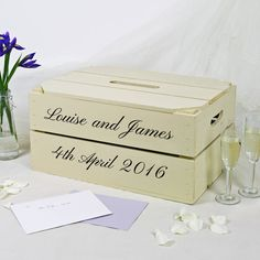I Ve Just Found Personalised Wedding Post Box Crate This Lovely Wooden Le