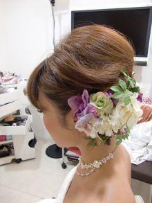 2011年 お花いっぱいヘアー |City Wedding 大阪 梅田、京都、神戸 ブライダルヘアメイク出張 ☆ヘアメイクアーティストモリの美女採集|Ameba (アメーバ)
